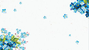 Blue fresh dynamic retro floral PPT background picture