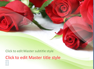 Bright rose background romance slide template download