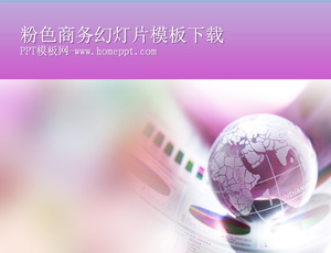 Business background slide template for pink earth background download