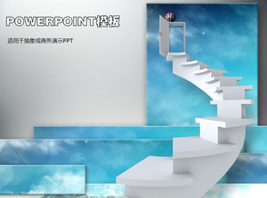 Business step ladder PPT template download