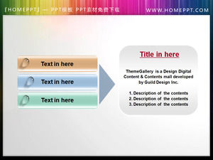 Button text box PPT material download