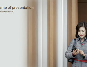 Call woman Powerpoint Templates