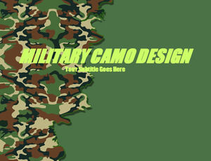 Camouflage patterns - Military PPT template