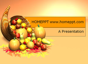 Cartoon fruit and vegetable PPT template download