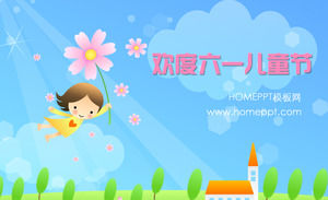Celebrate the Children's Day PPT template download