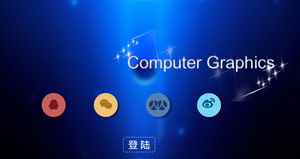 CG technology ppt animation download PPT template