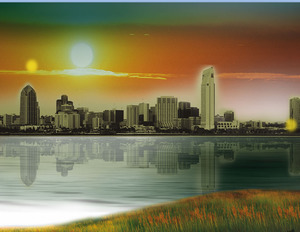 Chaoyang under the city PPT template download