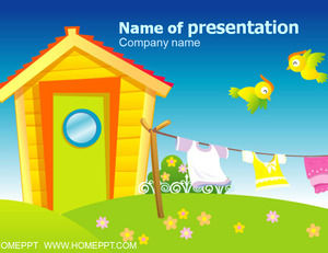 Anak-anak kartun PPT Template Download
