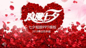 Chinese Valentine's Day Photo Album PPT Template
