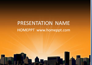 City of sunset building class PPT template