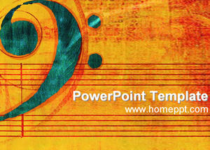 Classical music PPT template download