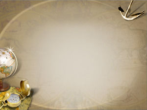 Classical style globe PPT background picture