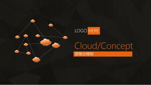 Serviciul Cloud Cloud Cloud Computing Template PPT
