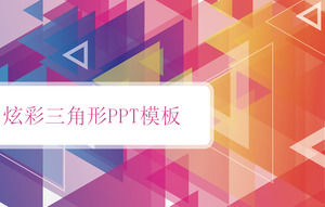Color colorful fashion triangle background PPT template free download