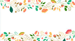 Color small fresh cartoon flower PPT background picture