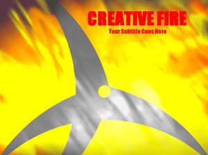 creative fire Powerpoint Templates