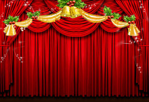 Curtain background dynamic Christmas PPT background template