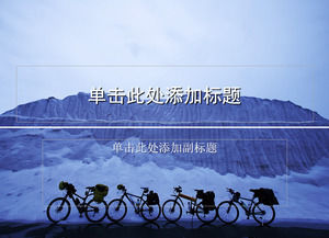 Cycling travel ppt template