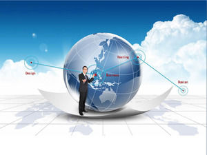 Dynamic Business PPT background image