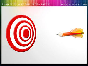 Dynamic darts hit the bull's-eye PowerPoint animation material