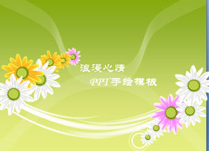 Dynamic flower PPT template download