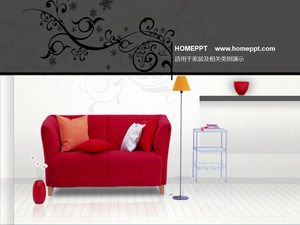 Dynamic home PPT background template download