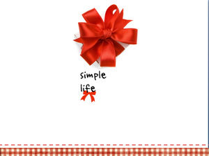 Dynamic red bow gift box background PPT template download;