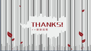 Dynamic Thank you watch PPT template download