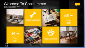 Dynamic Yellow Black IOS Style Business PPT Templates