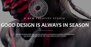 European and American creative brand promotion PPT template