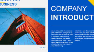 European and American warm color line style summary report PPT template