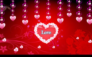 Excellent Valentine's Day PPT animation template