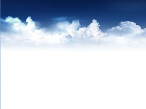 Exquisite blue sky and white clouds slide background image