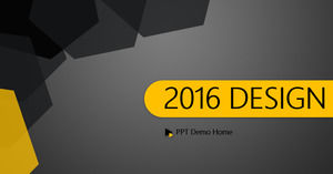 Flat simple atmosphere design style PPT template