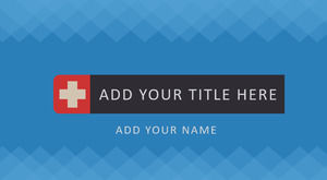 Flat style medical work report PPT template
