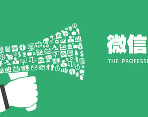 Flat wind WeChat marketing report PPT template