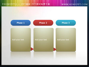 Flowchart PPT text box material