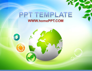 Foreign earth background green green slide template download;