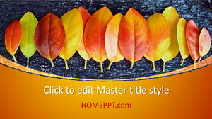 Free Modern Autumn PowerPoint Template Design