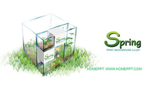 Fresh and elegant spring plant PPT template