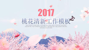 Fresh Peach Blossom Background PPT Template Scarica