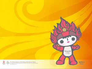Fuwa background Olympic Games PPT background template