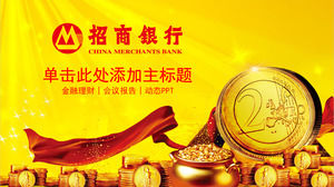 Golden China Merchants Bank Investment Finance PPT Template