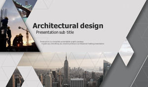 Gray European and American constructi建筑on PPT template, South Korea Europe and America PPT download