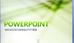 Green and practical PPT template