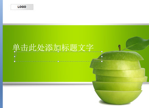 Green Apple PPT template download