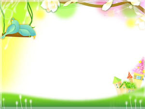 Green cartoon simple PPT background image