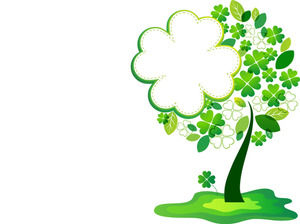 Green Clover Cartoon Border PPT Background Image