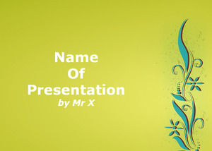 Green Floral Background powerpoint template