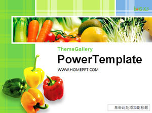 Fundo verde vegetal Template Food PPT